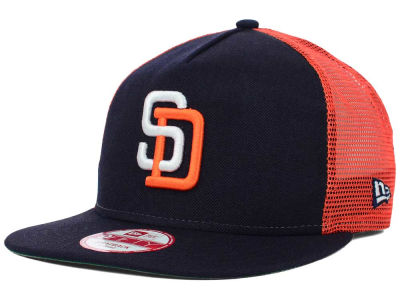 San Diego Padres MLB Team Basic Trucker A-Frame 9FIFTY Snapback Cap Hats
