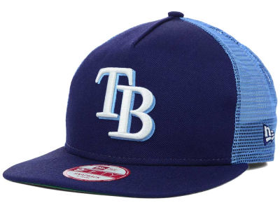 Tampa Bay Rays MLB Team Basic Trucker A-Frame 9FIFTY Snapback Cap Hats