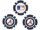 Atlanta Braves Team Golf Golf Poker Chip Markers 3 Pack Toys & Games