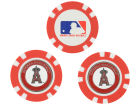 Los Angeles Angels of Anaheim Team Golf Golf Poker Chip Markers 3 Pack Toys & Games