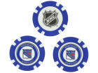 New York Rangers Team Golf Golf Poker Chip Markers 3 Pack Toys & Games