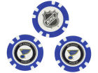 St. Louis Blues Team Golf Golf Poker Chip Markers 3 Pack Toys & Games