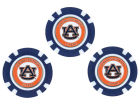 Auburn Tigers Team Golf Golf Poker Chip Markers 3 Pack Toys & Games