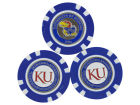 Kansas Jayhawks Team Golf Golf Poker Chip Markers 3 Pack Toys & Games