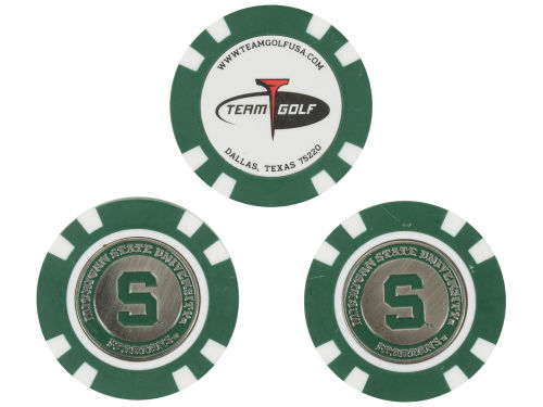 Michigan State Spartans Team Golf Golf Poker Chip Markers 3 Pack