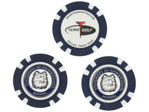 Connecticut Huskies Team Golf Golf Poker Chip Markers 3 Pack