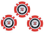 Utah Utes Team Golf Golf Poker Chip Markers 3 Pack Toys & Games