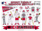 Cincinnati Reds Rico Industries 11x11 Family Decal Sheet Bumper Stickers & Decals