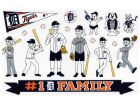 Detroit Tigers Rico Industries 11x11 Family Decal Sheet Bumper Stickers & Decals