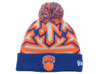 New York Knicks New Era NBA HWC Glowflake Pom Knit Hats