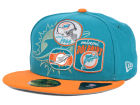 Miami Dolphins New Era NFL Patch Batcher 59FIFTY Cap Fitted Hats