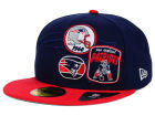 New England Patriots New Era NFL Patch Batcher 59FIFTY Cap Fitted Hats