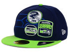 Seattle Seahawks New Era NFL Patch Batcher 59FIFTY Cap Fitted Hats