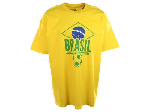 Brazil Dynasty Soccer Country Graphic T-Shirt