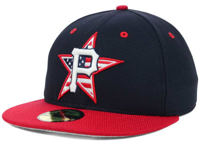 Pittsburgh Pirates MLB 2014 AC July 4th Stars & Stripes 59FIFTY Cap Hats
