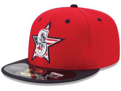 Seattle Mariners MLB 2014 AC July 4th Stars & Stripes 59FIFTY Cap Hats