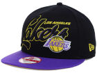 Los Angeles Lakers New Era NBA HWC Black-Top 9FIFTY Snapback Cap Adjustable Hats