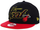 Miami Heat New Era NBA HWC Black-Top 9FIFTY Snapback Cap Adjustable Hats