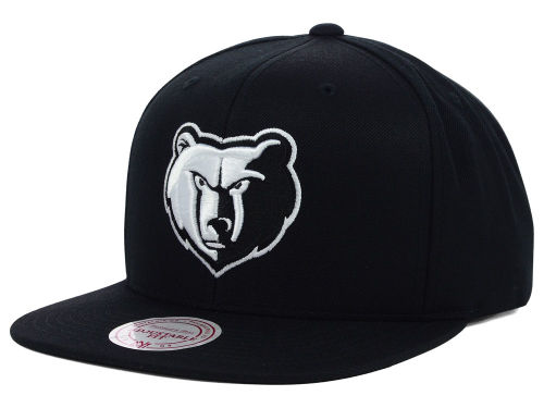 Memphis Grizzlies Mitchell and Ness NBA Team BW Snapback Hat Hats