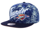 Oklahoma City Thunder Mitchell and Ness NBA Dirty Denim Snapback Hat Adjustable Hats