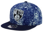 Brooklyn Nets Mitchell and Ness NBA Dirty Denim Fitted Hat Hats
