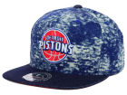 Detroit Pistons Mitchell and Ness NBA Dirty Denim Fitted Hat Hats