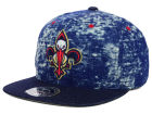 New Orleans Pelicans Mitchell and Ness NBA Dirty Denim Fitted Hat Hats