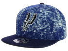 San Antonio Spurs Mitchell and Ness NBA Dirty Denim Fitted Hat Hats