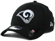 New Era NFL Black White Team Classic 39THIRTY Cap Stretch Fitted Hats