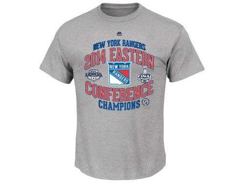 New York Rangers Majestic NHL All Time Save Conference Champ T-Shirt