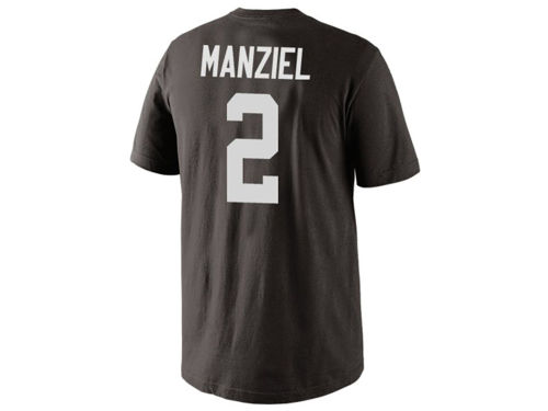 Cleveland Browns Johnny Manziel Nike NFL Men's Pride Name and Number T-Shirt