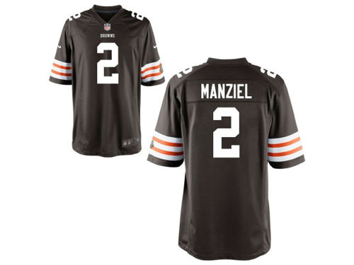 Cleveland Browns Johnny Manziel Nike NFL Youth Game Jersey