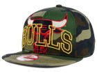 Chicago Bulls New Era NBA HWC Metallic Cue Original Fit 9FIFTY Snapback Cap Adjustable Hats