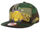 Golden State Warriors New Era NBA HWC Metallic Cue Original Fit 9FIFTY Snapback Cap Adjustable Hats