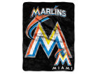 Miami Marlins The Northwest Company Micro Raschel 46x60 Triple Play Bed & Bath