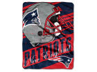 New England Patriots The Northwest Company Micro Raschel 46x60 Deep Slant Bed & Bath