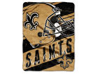 New Orleans Saints The Northwest Company Micro Raschel 46x60 Deep Slant Bed & Bath
