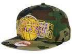 Los Angeles Lakers New Era NBA HWC Metallic Cue Original Fit 9FIFTY Snapback Cap Adjustable Hats
