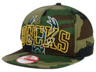 Milwaukee Bucks New Era NBA HWC Metallic Cue Original Fit 9FIFTY Snapback Cap Adjustable Hats