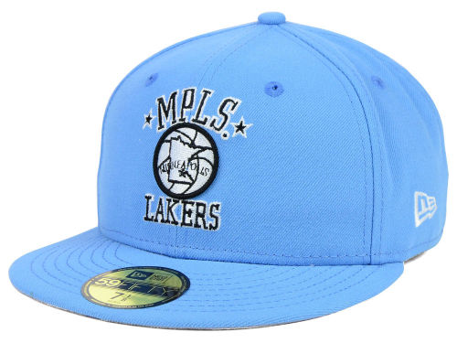 Minneapolis Lakers New Era SkyBlue New Era NBA HWC Back To
