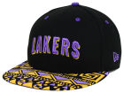 Los Angeles Lakers New Era NBA HWC Cross Colors 9FIFTY Snapback Cap Adjustable Hats