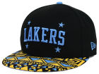 Minneapolis Lakers New Era NBA HWC Cross Colors 9FIFTY Snapback Cap Adjustable Hats