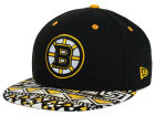 Boston Bruins New Era NHL Cross Colors 9FIFTY Snapback Cap Adjustable Hats