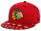 Chicago Blackhawks New Era NHL Cross Colors 9FIFTY Snapback Cap Adjustable Hats