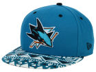 San Jose Sharks New Era NHL Cross Colors 9FIFTY Snapback Cap Adjustable Hats