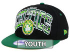 Boston Celtics New Era NBA HWC Youth Out of Line 9FIFTY Snapback Cap Adjustable Hats