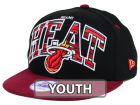 Miami Heat New Era NBA HWC Youth Out of Line 9FIFTY Snapback Cap Adjustable Hats