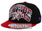Philadelphia 76ers New Era NBA HWC Youth Out of Line 9FIFTY Snapback Cap Adjustable Hats