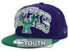 Milwaukee Bucks New Era NBA HWC Youth Out of Line 9FIFTY Snapback Cap Adjustable Hats