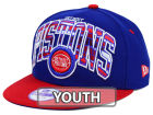 Detroit Pistons New Era NBA HWC Youth Out of Line 9FIFTY Snapback Cap Adjustable Hats